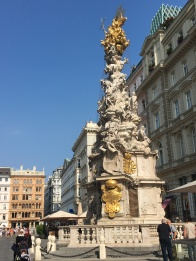 Holy Trinity Plague Column. A massive outbreak of bubonic plague where about 1/3 the city (75,000 people) died